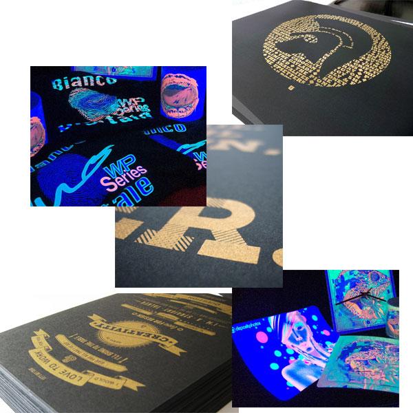 Esempio stampa oro metalizzati fluo